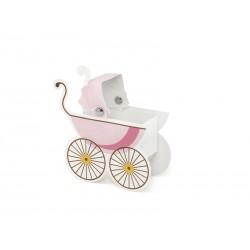 Cajitas cochecito de bebe rosa