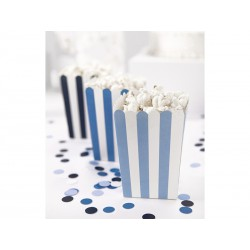 Cajitas para palomitas de rayas azules