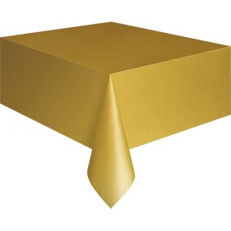 Mantel de color dorado