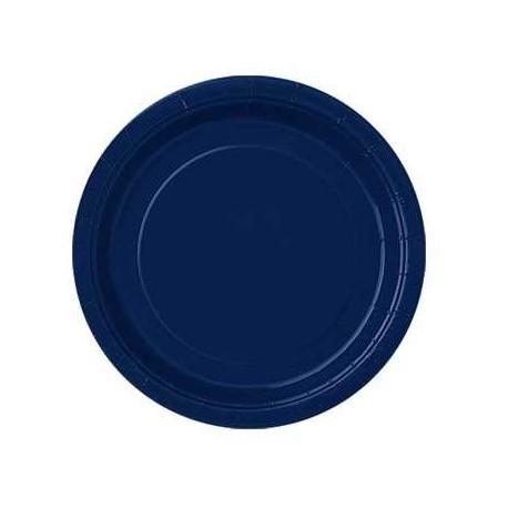 Platos de color azul oscuro de 18 cm