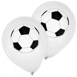 Globos de futbol de color blanco