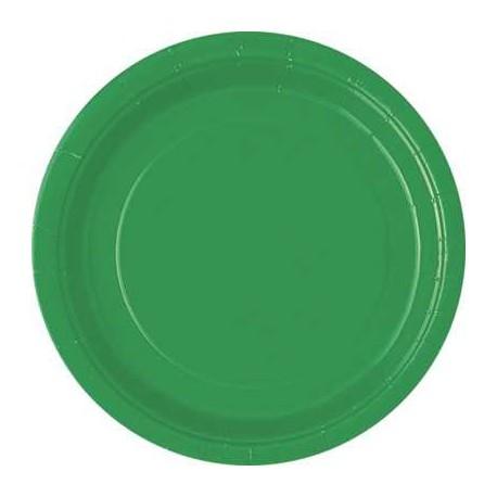 Platos de color verde