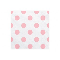 Servilletas de lunares de color rosa claro