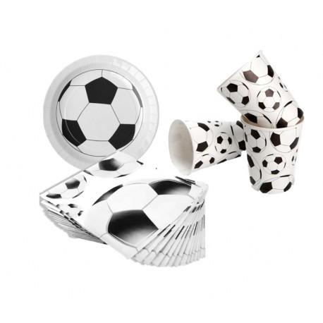 Pack mini de futbol (blanco/negro) para 10
