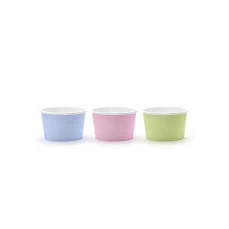 Vasos para helado de colores pastel