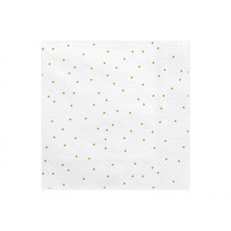 Servilletas blancas con puntos dorados