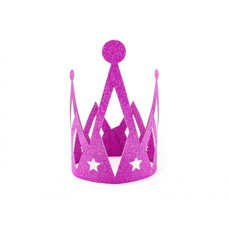 Corona de color fucsia
