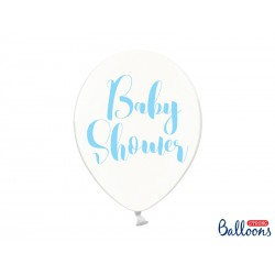 Globos Baby shower texto azul