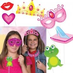 Photocall de fiesta de princesas (10 piezas)