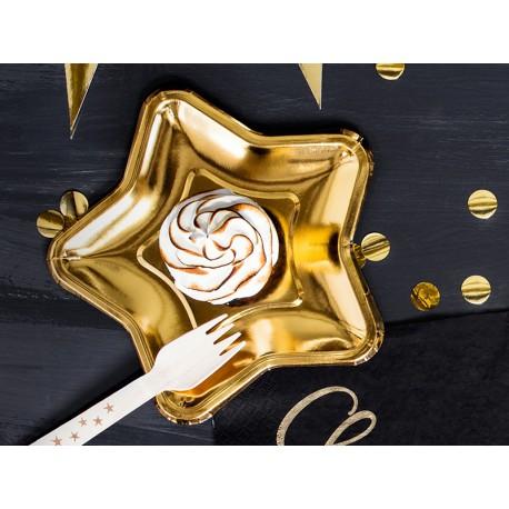 Platos de estrella de color dorado