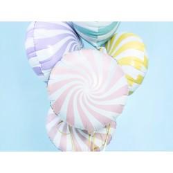 Globo foil candy de 45 cm blaco/rosa claro