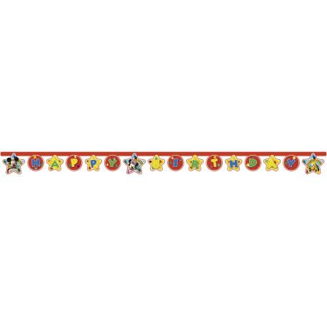 Guirnalda de Mickey Mouse - Happy Birthday