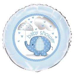 Globo foil de Elefante con sombrilla azul