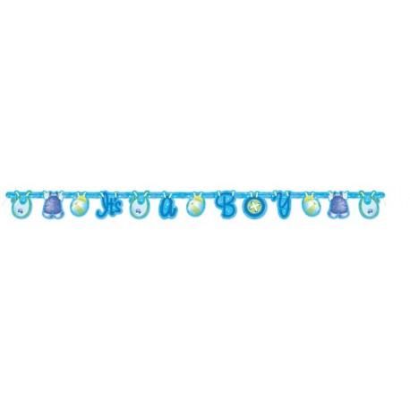 Guirnalda de ropa de bebe azul