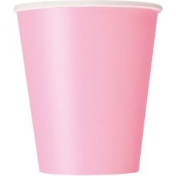 Vasos de color rosa claro