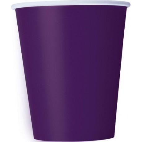Vasos de color violeta oscuro