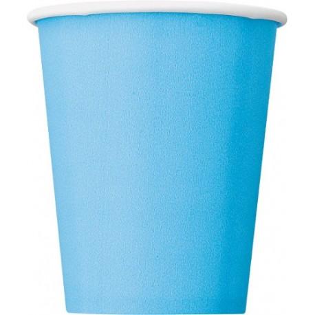 Vasos de color azul pálido