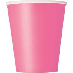 Vasos de color rosa fuerte