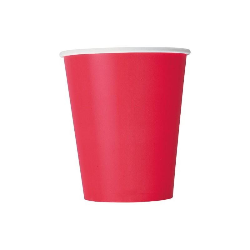 Vasos de color rojo fiesta 10 - Vasos de colores ...