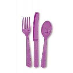 Cubiertos de color violeta