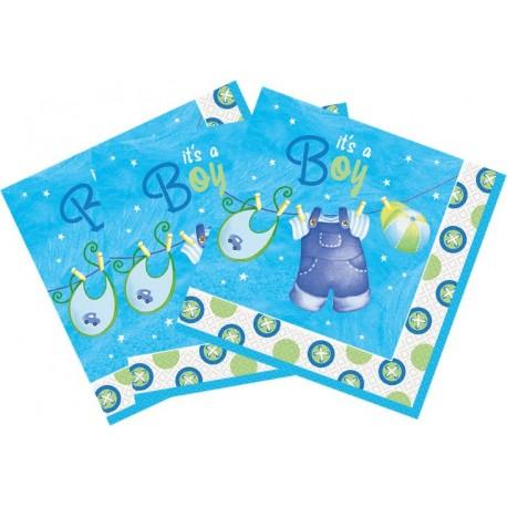 Servilletas de ropa de bebe azul
