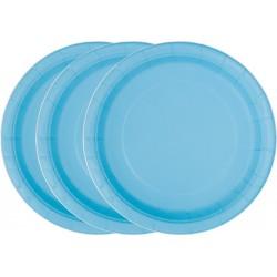 Platos de color azul claro