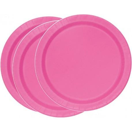 Platos de color rosa fuerte