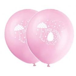 Globos de látex de Elefante con sombrilla rosa