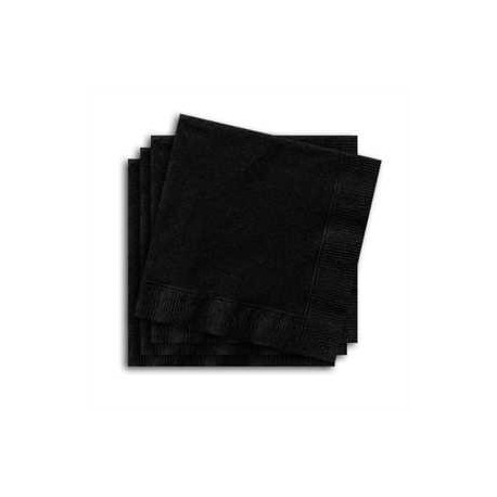 Servilletas de color negro