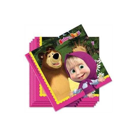 Servilletas de Masha y el oso