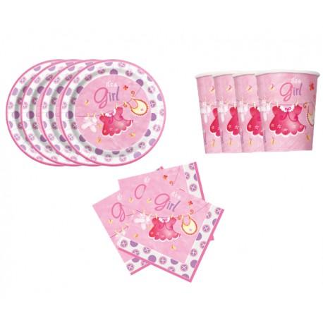 Mini pack Ropa de bebe rosa para 8