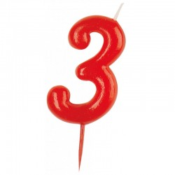 Vela roja número 3