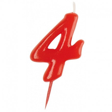 Vela roja número 4