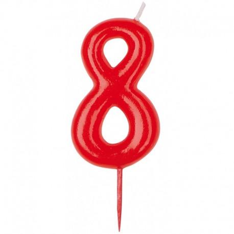 Vela roja número 8