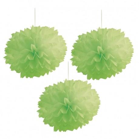 Pompones de color verde lima