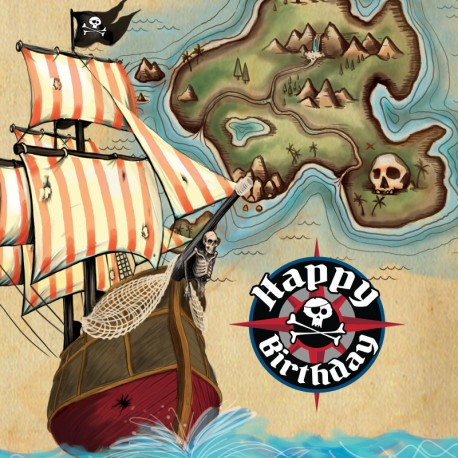 Servilletas de Mapa del pirata
