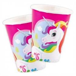 Vasos de unicornio arcoiris