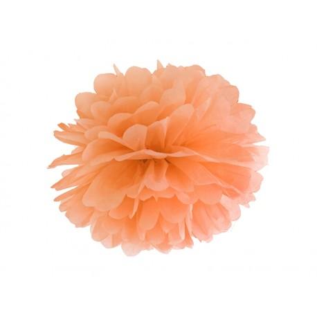 Pompón de color naranja claro (35 cm)