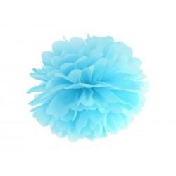 Pompón de color azul claro (35 cm)
