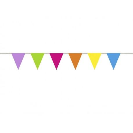 Guirnalda de banderines de colores