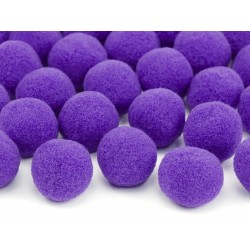 Mini pompones para mesa de color violeta