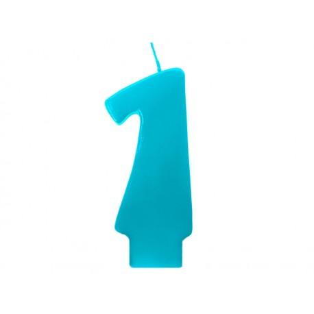 Vela azul número 1