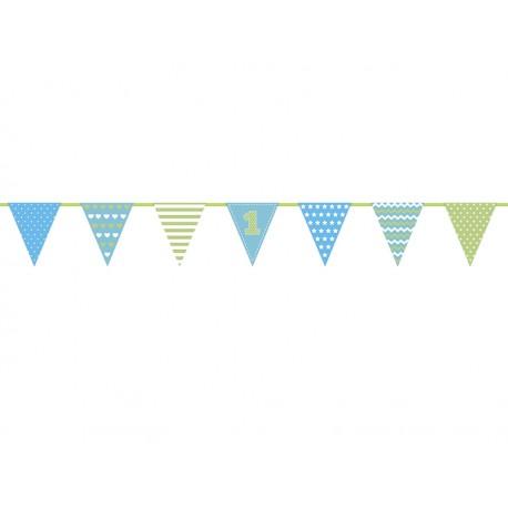 Guirnalda Primer cumpleaños azul Globos