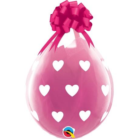 Globo regalo de corazones (45 cm. Aprox.)