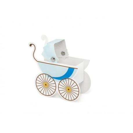 Cajitas cochecito de bebe azul