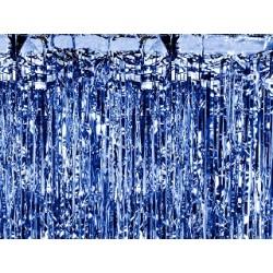 Cortina de color azul brillante